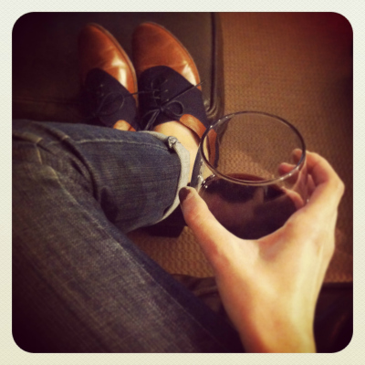 oxfords and wine